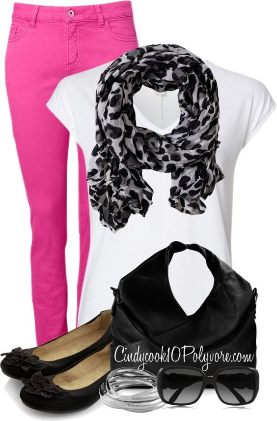 9 ways to wear hot pink pants in spring outfits - Page 5 of 9 - women-outfits.com