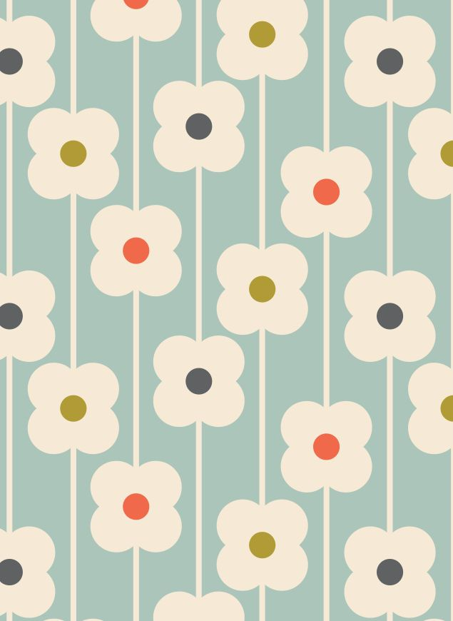 ORLA KIELY ABACUS FLOWER PRINT paint or paper on soffit