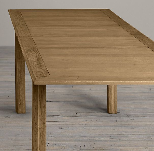Drifted Oak Parson S Rectangular Extension Table Brown