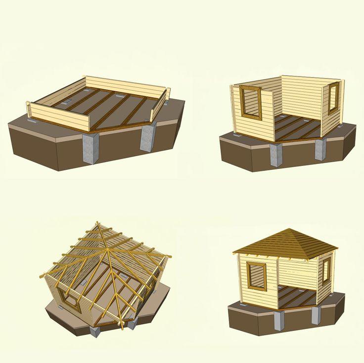 Gartenhaus selber bauen aus Blockbohlen – vollständiger Eigenbau ohne Bausatz
