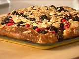 Picture of Apple and Blackberry Kuchen Recipe by Nigella Lawson. love this for breakfast & great for when company is over for the weekend. do your dough the night before.
