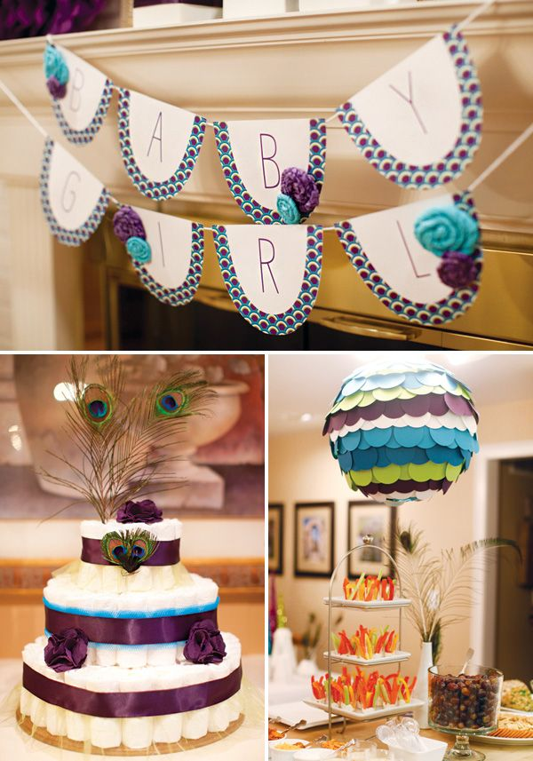 Modern Peacock Baby Shower {Blue, Green & Purple} I am far off from having a baby but this shower is gorgeous!