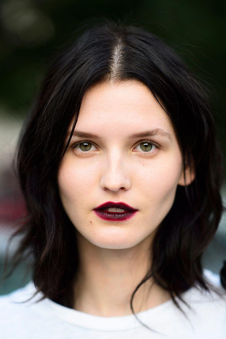 deep red lips #beauty #makeup #lipstick