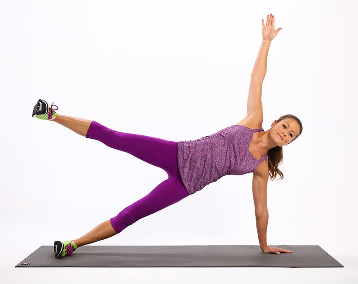 Plank Challenge. 4. Side Plank With Leg Lift (Left Side):  Balance on the left hand and the outside edge of the left foot with the body in one straight line. Raise the right arm and leg in the air.