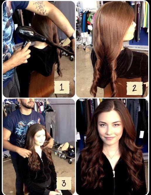 DIY blow dryer curls