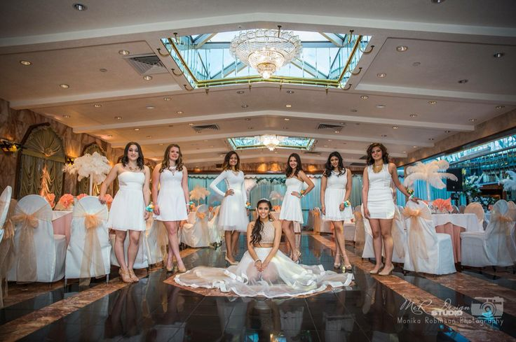 Kayla Amp Her Court At Ariana A Waterfall Caterers Sweet 16 Amp Quinceaneras Pinterest Sweet