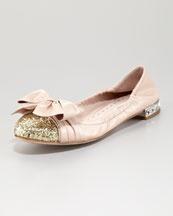miu miu: Glitter To Scrunch, Scrunch Ballerinas, Miu Glitter To, Ballerinas Flats, Sandals, Ballet Flats, Miu Miu, Glitter Toes, Ballerina Flats
