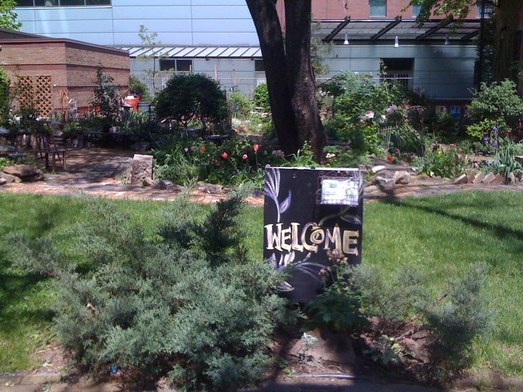 You're always welcome in a community garden