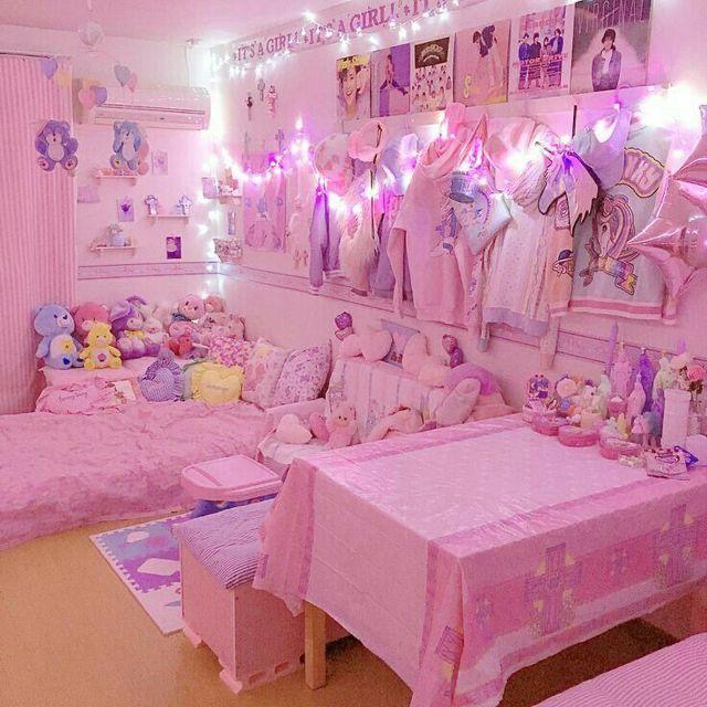 Pink Kawaii Room Kawaii Room Gamer Room Decor Kawaii Bedroom