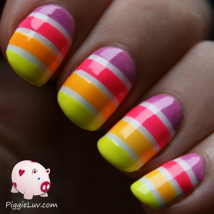 Piggieluv Rainbow Bubbles Nail Art: 178 Best Images About Neon Nails & Neon Nail Art Design