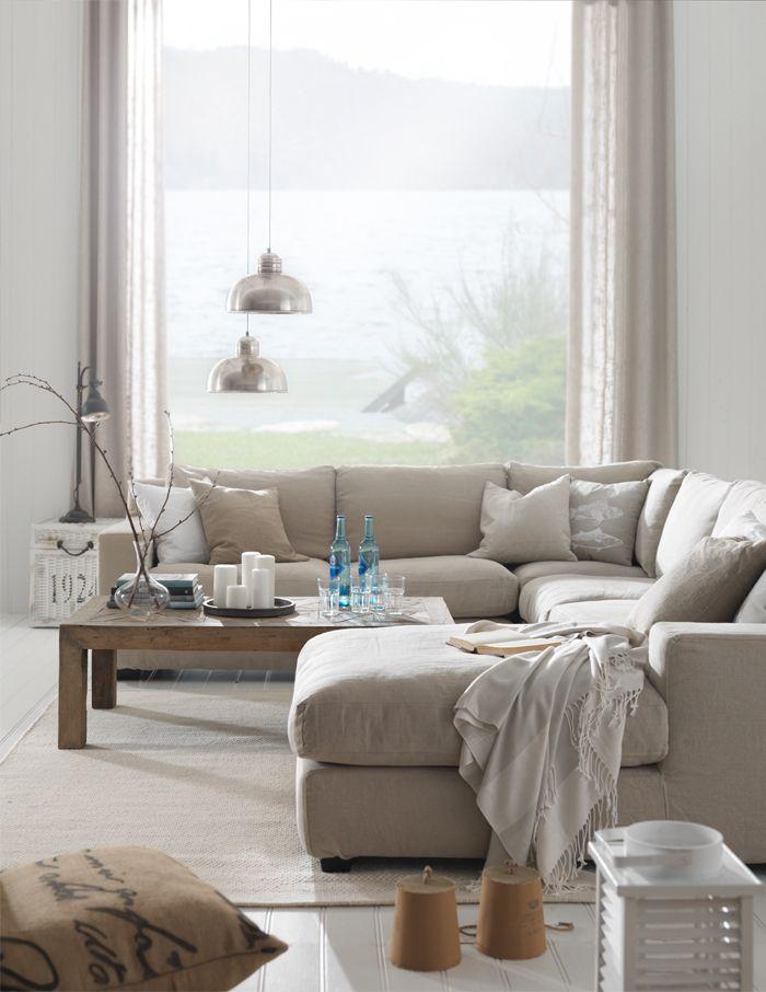 Love the fabric   Summer Living-Interior Design By Living http://livingbloggen.blogspot.com