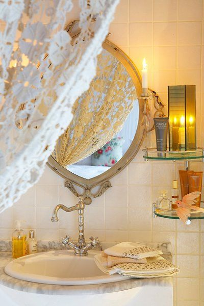 60 best images about romantic bathrooms on pinterest for Small romantic bathroom ideas
