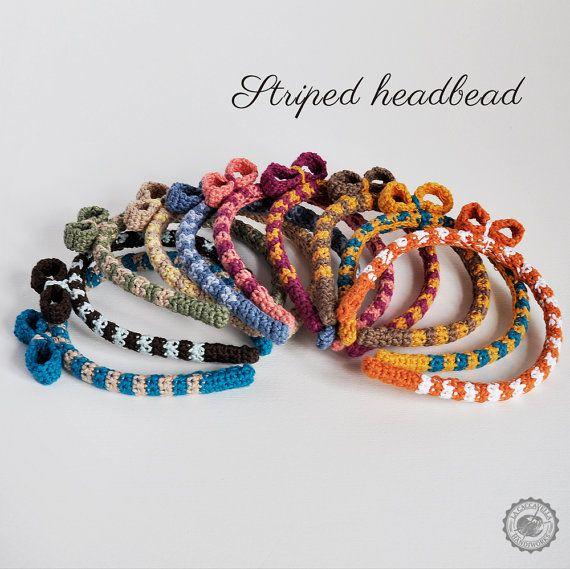 #crochet #headbead bicolor