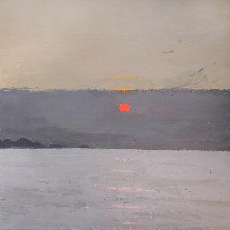 "Kyffin Williams ""Sunset"" Oil on canvas, 121.7 x 121.7 cm"