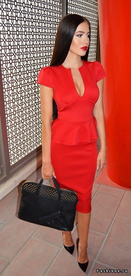 Магия красного / красное платье fashiony
