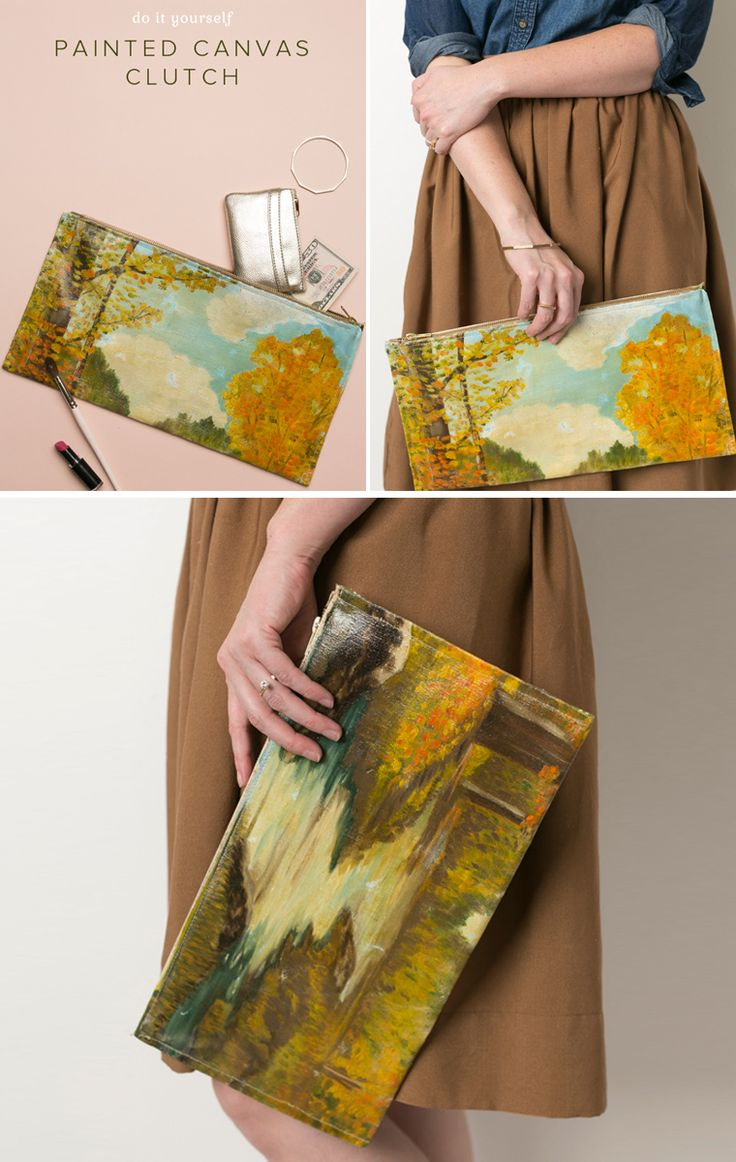 72 best camp makery beauty style images on pinterest music canvas painting clutch diy solutioingenieria Choice Image
