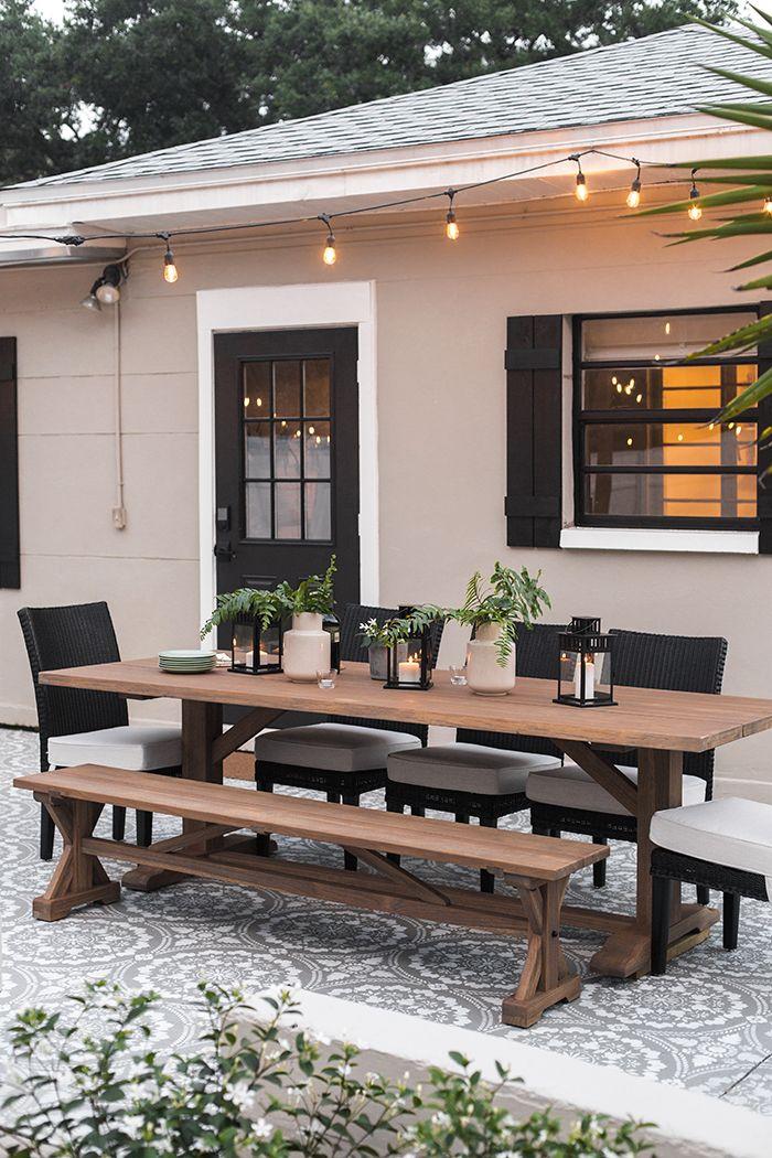 Backyard Makeover Reveal: Al Fresco Dining