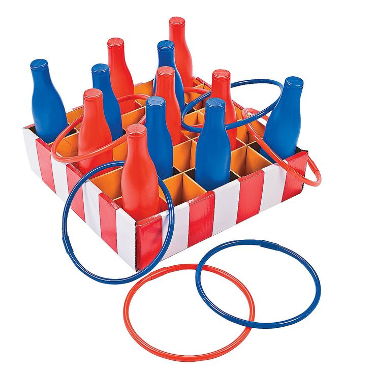 Carnival Bottle Ring Toss Game - we could make our own