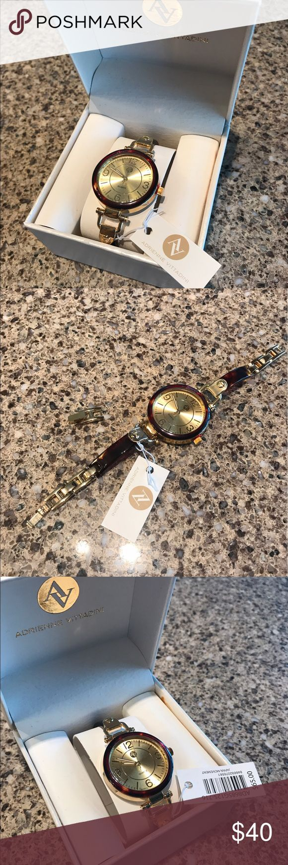 NWT $65 Adrienne Vittadini watch New with tag $65 Adrienne Vittadini watch. Absolutely stunning. Removable link. In box. Adrienne Vittadini Accessories Watches