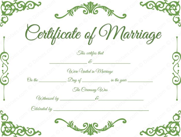 Wedding Certificate Template Precious Wedding Anniversary