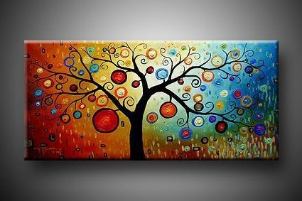 Canvas ArtWall Art, Trees Art, Modern Art, Trees Of Life, Living Room, Canvas, Art Painting, Oil Painting, Trees Painting