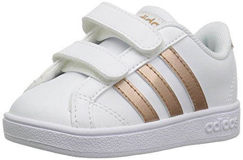 3cb170699c adidas Performance Baby Baseline, White/Copper Metallic/Black, 9K M ...