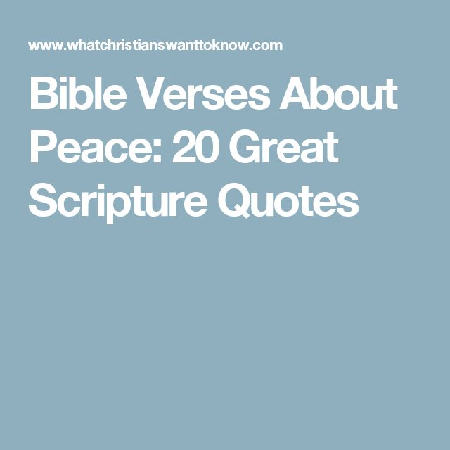 Bible Verses About Peace: 20 Great Scripture Quotes