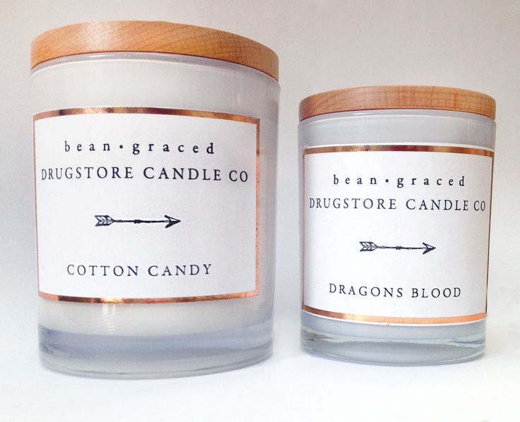 Bean Graced Large & Medium Soy Candle in White with timber lids
