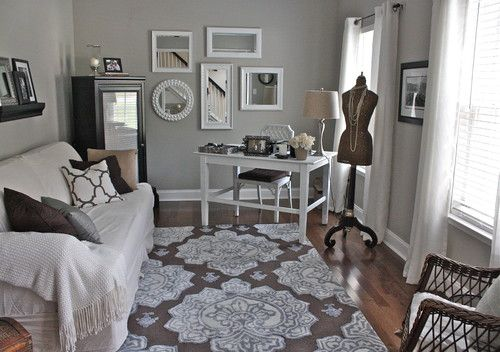 Nice for guest room/office combo.  the sofa could be a sofa bed or daybed