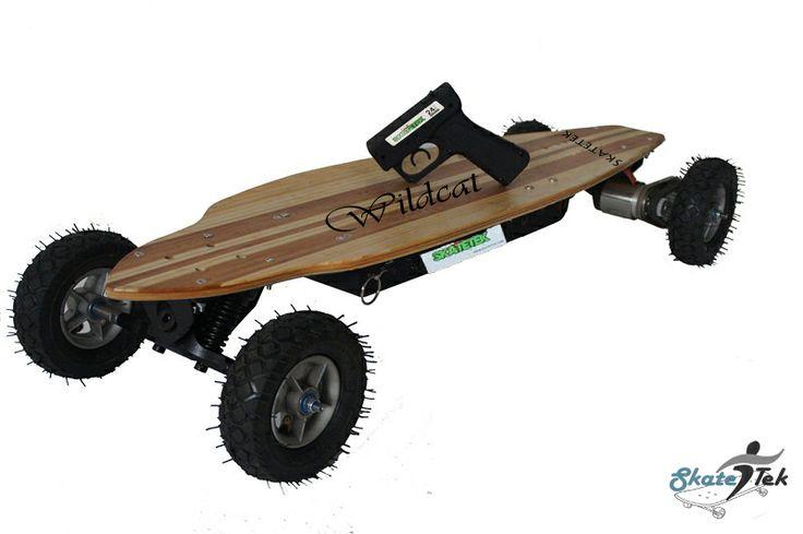 Skatetek's 1200WATT WILDCAT TWIN DRIVE ELECTRIC SKATEBOARD.