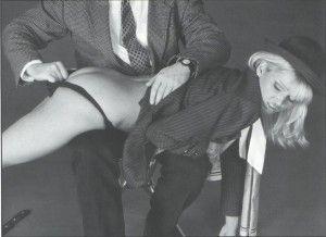 Pull down her panties spank her