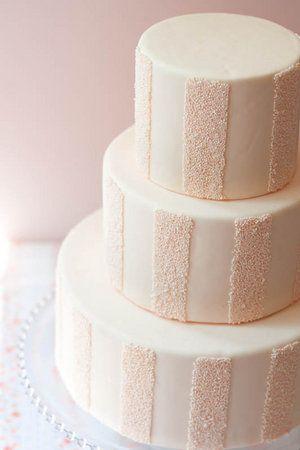 Striped sprinkle cake #blush