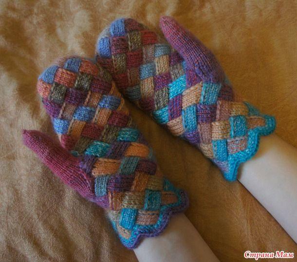 Добро пожаловать в он-лайн по вязанию лоскутных рукавичек)))