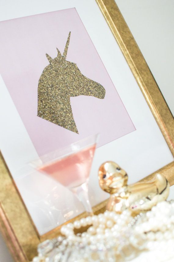 PRINTABLE art // gold print gold glitter by MyLittlestPrintShop, $5.00