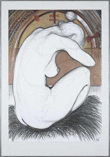 Peter Strassner, obraz, kresba,  Akt II, 634 €, 70 x 100 cm