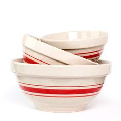 Mixing Bowls Red Set Of 3, $28, now featured on Fab.