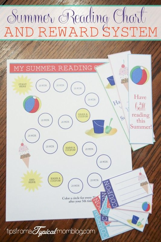 Okay I am OBSESSED with this summer reading chart and reward system! Reading is my favorite thing and I will do anything to get my kids to realize how much they love it ;) this is perfect!