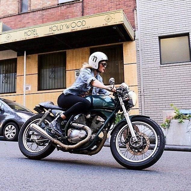 Rider Girl on Yamaha