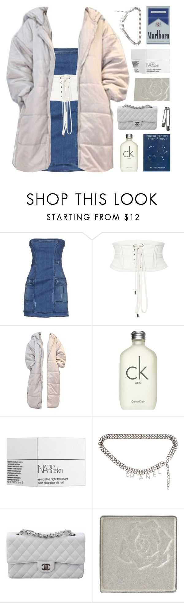 """i really like this jacket"" by celhestial ❤ liked on Polyvore featuring Pierre Balmain, Isabel Marant, Calvin Klein, NARS Cosmetics, Chanel and Anna Sui"