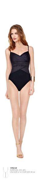 Gottex ~ Pearl Goddess Surplice Swimsuit