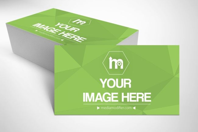 Show Off The Front And Back Side Of Your Business Card Design Upload Your Images And Customize The Business Card Mock Up Business Card Design Mockup Generator