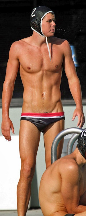 College guys naked water polo