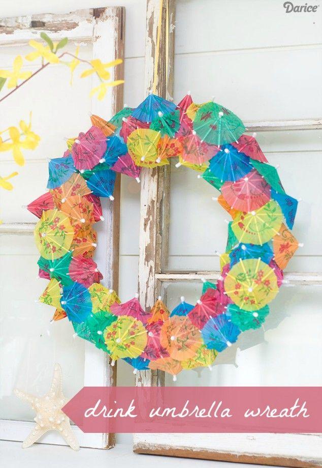 DIY Umbrella Wreath DIY Home Decor Pinterest DIY Wreath