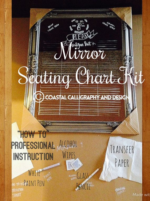 Anyone can do it!! Check out DIY Mirrored Seating Chart KIT for Weddings on coastalcalligraphy