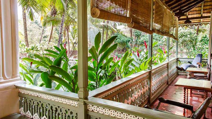 Wonderful colonial style veranda at this renovated old house, now a boutique hotel, in south Goa, India. To book or enquire: https://www.tripzuki.com/hotels/vivenda-dos-palhacos-goa/