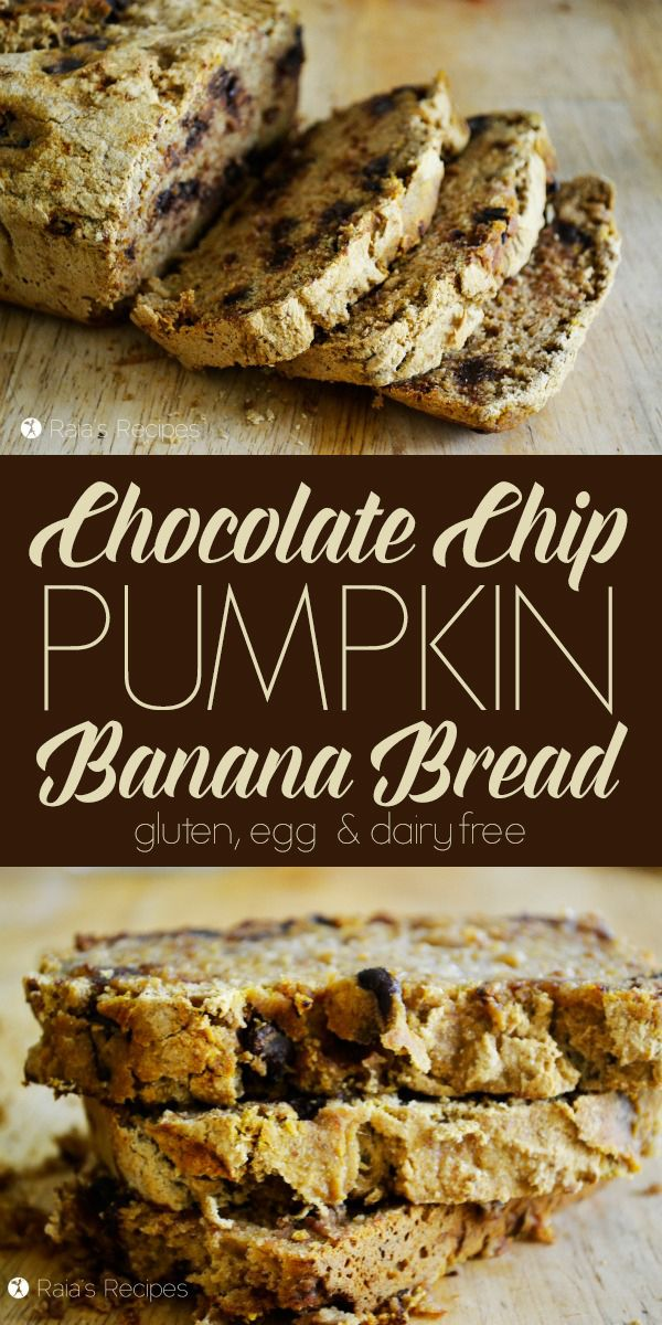 This easy, allergy-friendly Chocolate Chip Pumpkin Banana Bread is the perfect treat to satisfy your pumpkin and chocolate cravings! | RaiasRecipes.com