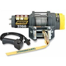 MOOSE 1678 Kg WINCH 3,700-lb. rated pullWire rope