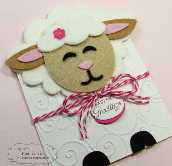 Stamping with a Passion!: Sack It - Lamb Lamb is cut from felt looks like a cloud shape could be used for wool
