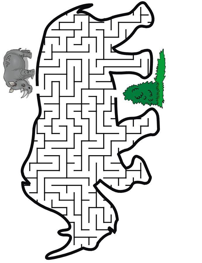 Rhino Maze Guide the rhino thru the maze to some food Animal