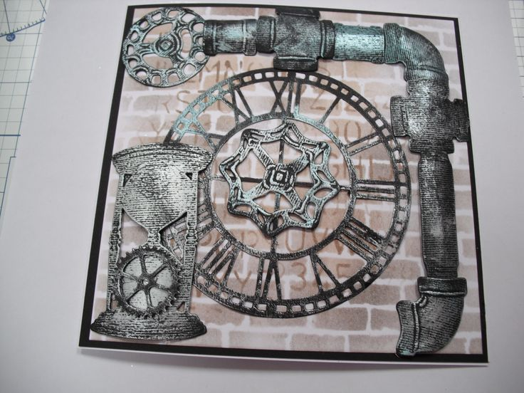 Stamps & Dies by Sheena Douglass Time Traveller collection.
